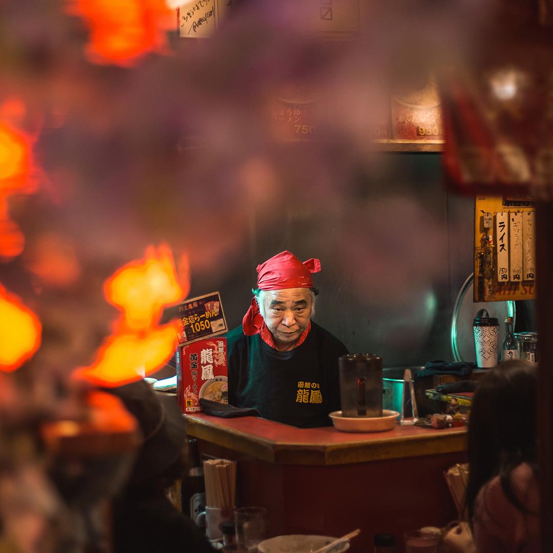 Ramen chef in Tokyo