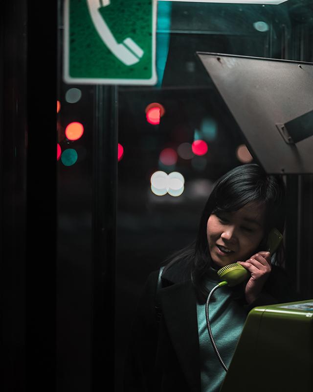 Phone booth in Sapporo Hokkaido