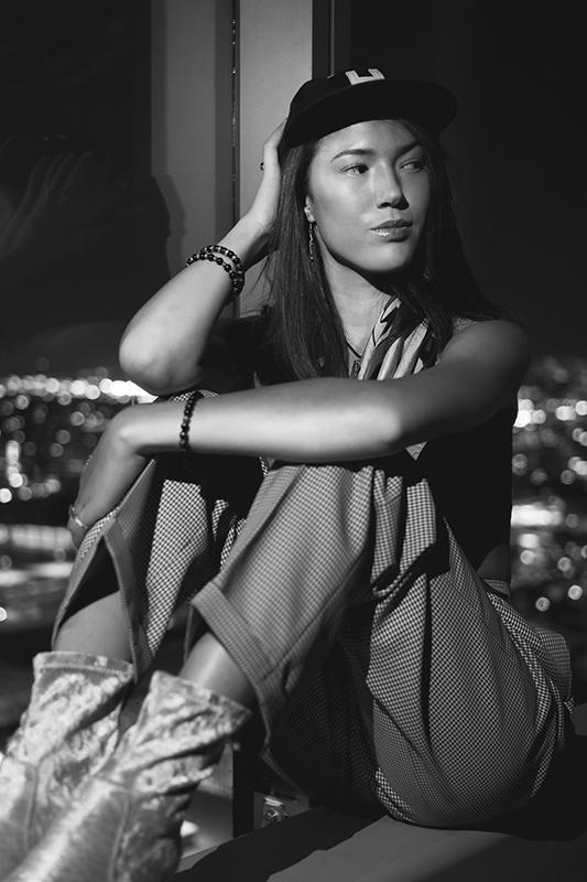 Model portrait street photography
