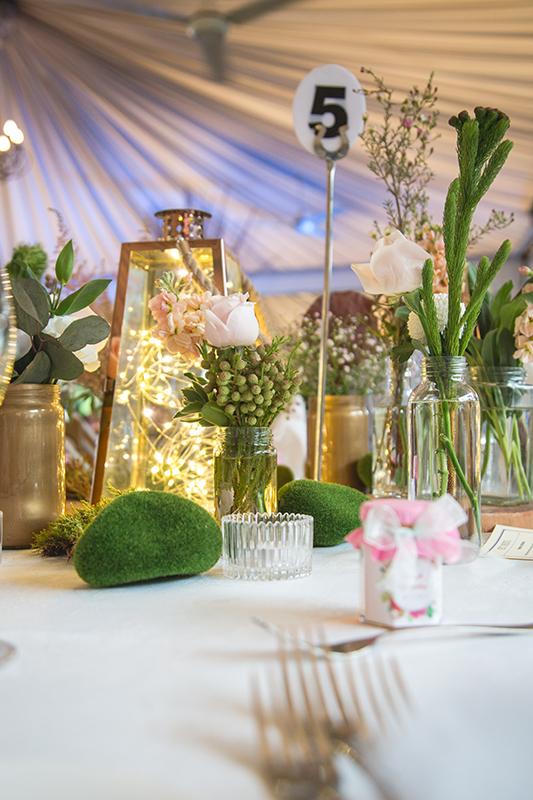 Wedding flower arrangements photography