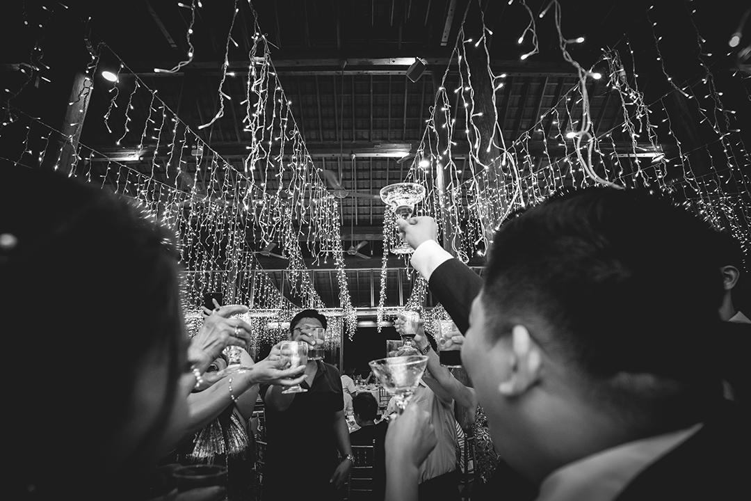 Cheering during weddine dinner tanarimba malaysia